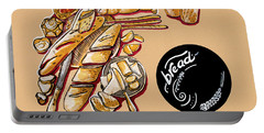 Kitchen Illustration Of Menu Of Bread Products  Portable Battery Charger