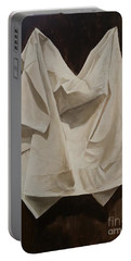 Painting Alla Rembrandt - Minimalist Still Life Study Portable Battery Charger