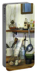 Kitchen With Wire Basket Of Eggs Portable Battery Charger by Susan Savad