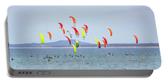Kite Boarding At La Ventana Portable Battery Charger