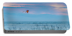 Kite In The Air At Sunset Portable Battery Charger