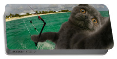 Kite Surfing Cat Selfie Portable Battery Charger