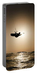 Kitesurfing At Sunset Portable Battery Charger