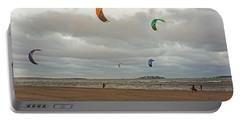 Kitesurfing On Revere Beach Portable Battery Charger