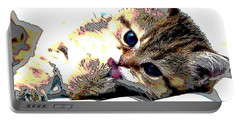 Kitten Portable Battery Charger by Charles Shoup