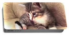 Kitten Deep In Thought Portable Battery Charger