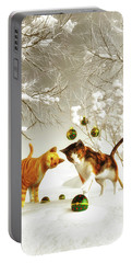 Kittens At Christmas Portable Battery Charger