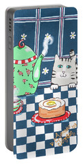Kitty Cat Tea Time Portable Battery Charger