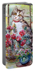 Kitty In The Window Portable Battery Charger