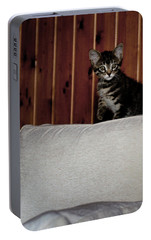 Portable Battery Charger featuring the photograph Kitty by Laura Melis