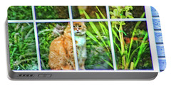 Kitty Reflections Portable Battery Charger by Wendy McKennon