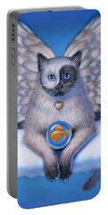 Kitty Yin Yang- Cat Angel Portable Battery Charger