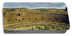 Portable Battery Charger featuring the photograph Kiva View Chaco Canyon by Kurt Van Wagner
