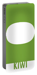 Kiwi Food Art Minimalist Fruit Poster Series 020 Portable Battery Charger