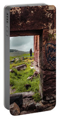Portable Battery Charger featuring the photograph Near Guzelyurt - Kizel Kilise - Side Door by Mark Forte