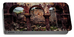 Portable Battery Charger featuring the photograph Near Guzelyurt - Kizil Kilise - Side Aisle by Mark Forte