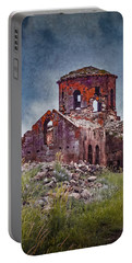 Portable Battery Charger featuring the photograph Near Guzelyurt, Turkey - Kizil Kilise - The Red Church by Mark Forte