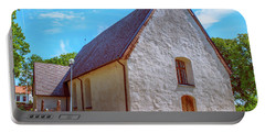Portable Battery Charger featuring the photograph Kjaerrbo Church  by Leif Sohlman