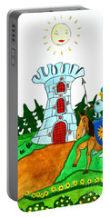 Brave Knight-errant And His Funny Wise Horse Portable Battery Charger