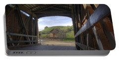 Knights Ferry Covered Bridge Portable Battery Charger by Jim And Emily Bush