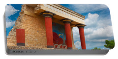 Knossos Palace At Crete, Greece Portable Battery Charger