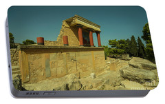 Knossos Palace  Portable Battery Charger by Rob Hawkins
