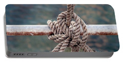 Portable Battery Charger featuring the photograph Knot Of My Warf by Stephen Mitchell