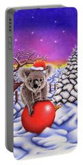 Koala On Christmas Ball Portable Battery Charger