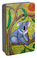 Koala Sunrise Portable Battery Charger by Sarah Loft