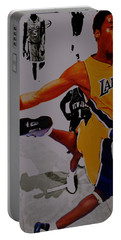 Kobe Bryant Taking Flight 3a Portable Battery Charger by Brian Reaves