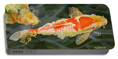 Koi 2 Portable Battery Charger by Phyllis Beiser