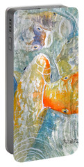 Koi Carp Feeding Frenzy Portable Battery Charger by Bill Holkham