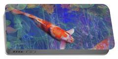 Koi Fish Pond Japanese Tea Garden  Portable Battery Charger