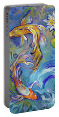 Koi Fish2 Portable Battery Charger by Tim Gilliland
