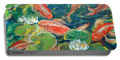 Koi Portable Battery Charger by Alexandra Maria Ethlyn Cheshire