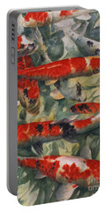 Koi Karp Portable Battery Charger by Gareth Lloyd Ball