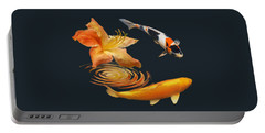 Koi With Azalea Ripples Portable Battery Charger