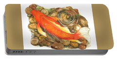 Koi With Ripple Portable Battery Charger
