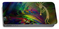 Portable Battery Charger featuring the digital art Kokopelli by Kiki Art