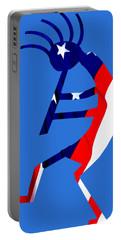 Kokopelli - Patriotic Portable Battery Charger by William Bartholomew