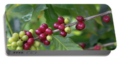Portable Battery Charger featuring the photograph Kona Coffee Cherries by Susan Rissi Tregoning