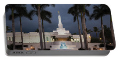 Kona Hawaii Temple-night Portable Battery Charger