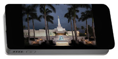Kona Hawaii Temple-night Portable Battery Charger