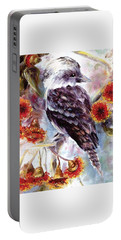 Kookaburra In Red Flowering Gum Portable Battery Charger
