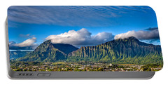 Portable Battery Charger featuring the photograph Koolau And Pali Lookout From Kanohe by Dan McManus