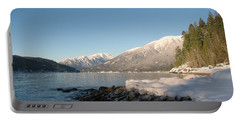 Kootenay Lake Winter Portable Battery Charger by Leone Lund