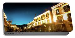 Kora At Night At Jokhang Temple Lhasa Tibet Yantra.lv Portable Battery Charger