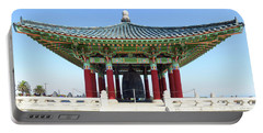 Korean Friendship Bell In Los Angeles Portable Battery Charger