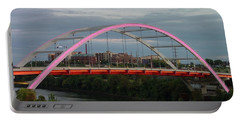 Portable Battery Charger featuring the photograph Korean Veterans Blvd Bridge by Nick Kirby