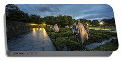 Portable Battery Charger featuring the photograph Korean War Memorial by David Morefield
